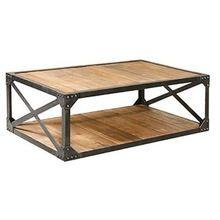 iron metal coffee table