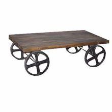 Wood Flatbed Trolley