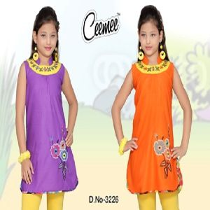 Sleeveless Cotton Designer Kurtis