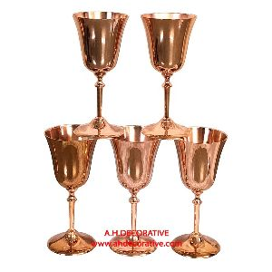 Brass Metal Goblet With Copper Finish