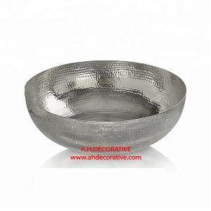Silver Hammered Champagne Cooler Bowl