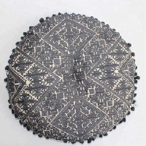 Black Embroidery Maxican Seat Cushion