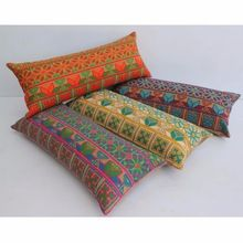 Cotton Embroidered Long Pillowcase Pillow