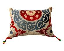 Embroidered Cotton Pillow Covers