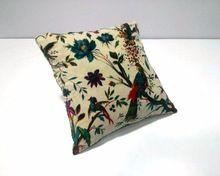 flower bird printed cushion cover
