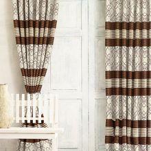 Kitchen Door Window Cotton Printed Curtain