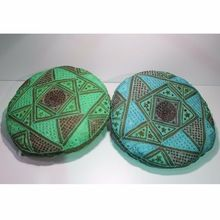 Mirror Embroidered Round Cushions