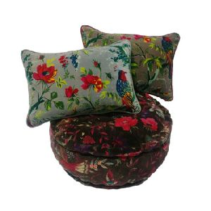 Velvet Printed Designer Pillow Pouf Cover