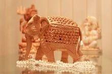 Wooden Elephants Carving Home Decor Souvenir