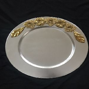 Silver Finish Iron Charger Plate