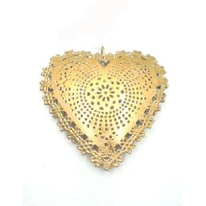 Metal Christmas Heart Shaped Hanging Ornament