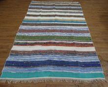 Carpet Rug Handmade Indian Cotton Chindi Rugs Mat Floor Woven Dari