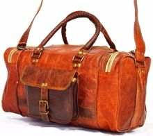 Genuine Leather Heavy Luggage Carry Bag