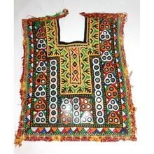 Hand Embroidery Banjara Cotton Neck Yoke Tribal Asian Vintage Small Neck Patches Wholesale