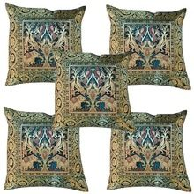 Indian Designer Collection Jacquard Velvet Sofa Cushion Cover