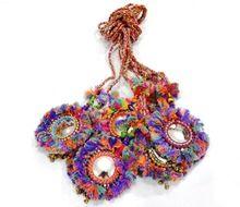 Indian Key Chain Banjara Tassels Lanyard Kutchi Retro