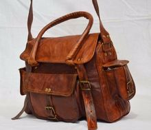 Real leather bag goat luggage carry bag