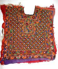 Small Banjara Vintage Embroidery Neck Yoke Indian Cotton Blouse Neck Patch Wholesale