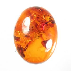 Baltic Amber Oval Cabochon Gem Stone