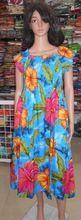 Capped Sleeved Hawaiian Maxi Dress