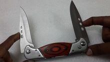 Handmade stainless steel double blade