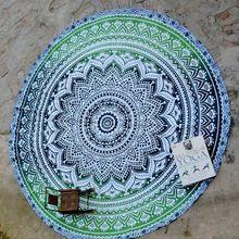 Green Ombre Mandala Tapestry