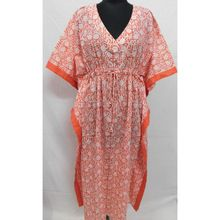 Printed Women Wear Long Kaftan