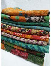 Vintage Kantha Blankets Quilt
