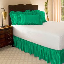 Plain Elastic Satin Bed Skirt