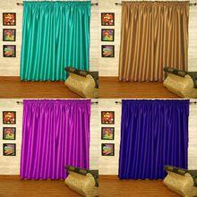 Satin Rod Pocket Blackout Curtain