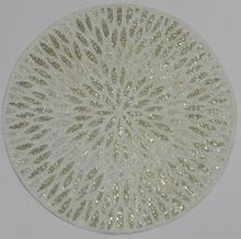 glass beaded leafy placemats