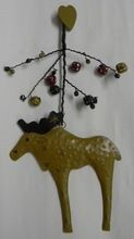 Hanging Moose Christmas Decoration