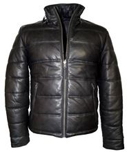 Men's Down Leather Jacket