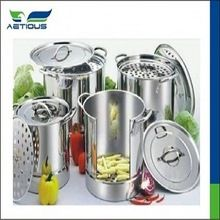 Stainless Steel Heating Cooking Pot With Glass Lid