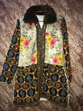 Silk And Fur Long Jacket For Ladies