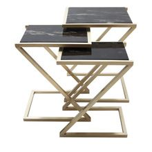 Metal And Marble Table Set Of 3