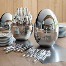 Silver Plated Flatware Holder