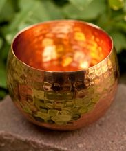 Copper Votive Candle Holder