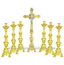 Gold Plated Baroque Church Candle Holder