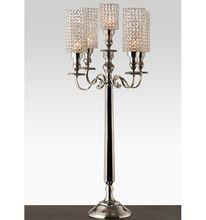 Silver Candelabra With Crystal Votive