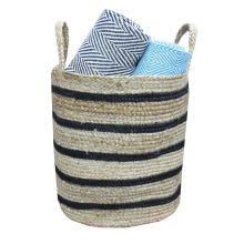 Kitchen Cloth Jute Canvas Storage Basket
