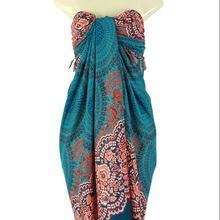 Tie Dye Pareo Hand Printed Bali Sarong Beach Pool Wrap