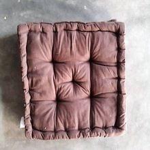 Square Pouf And Meditation Cushion Plain
