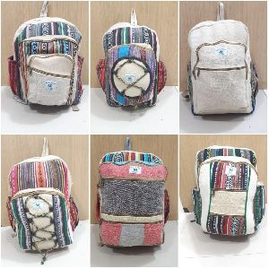 hemp backpack college bags