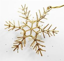 Gold Plated Metal Star Shape Christmas Hanging