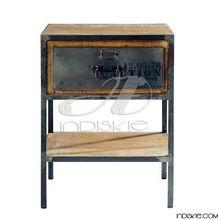 Vintage Industrial Furniture Bed Side Table