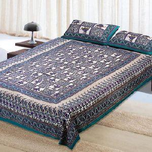 cotton print bedsheet
