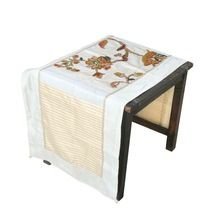 floral embroidered dining table runner