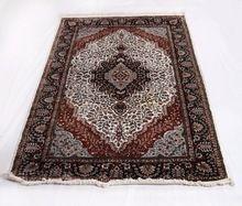 Kashmiri Hand Knotted Rug Wool Silk Area Carpet