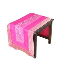 Pink Silk brocade cheap table runners